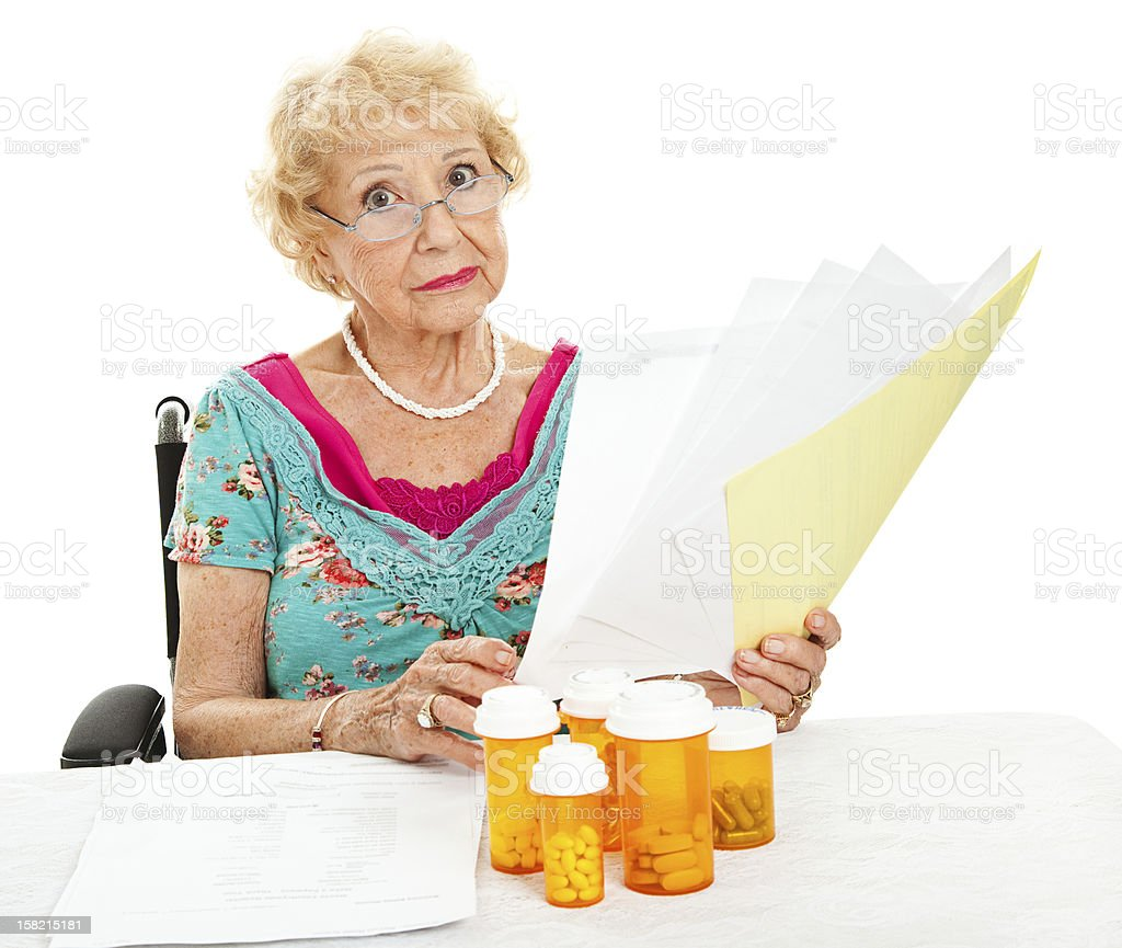 Disabled Senior Faces Medical Expenses royalty-free stock photo