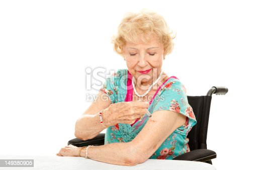 istock Disabled Senior - Self Injection 149380905