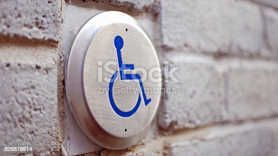 istock Disabled sign in Montreal 826878614