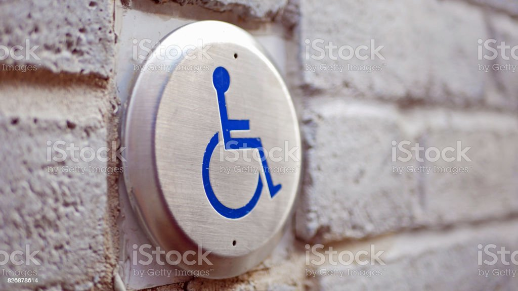 Disabled sign in Montreal stock photo