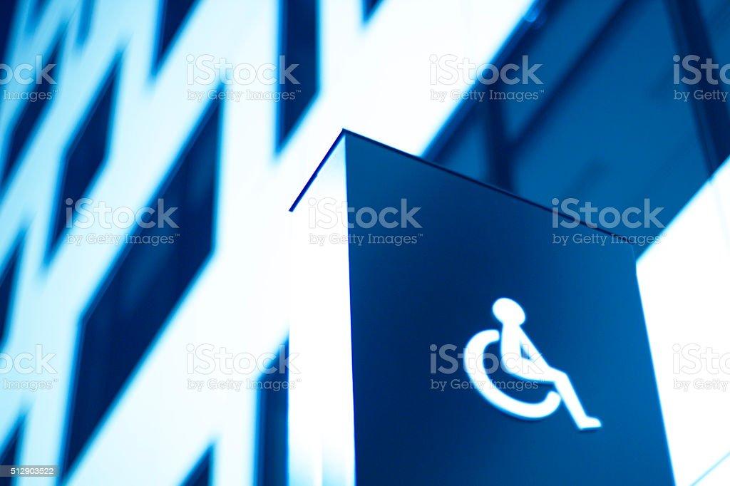 Behindertenzeichen, Rollstuhl, Büro – Foto