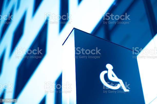 Behindertenzeichen Rollstuhl Büro Stockfoto und mehr Bilder von Barrierefreiheit