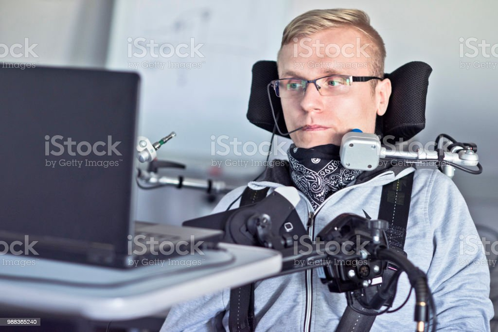 Disabled student. - Royalty-free Acessibilidade Foto de stock