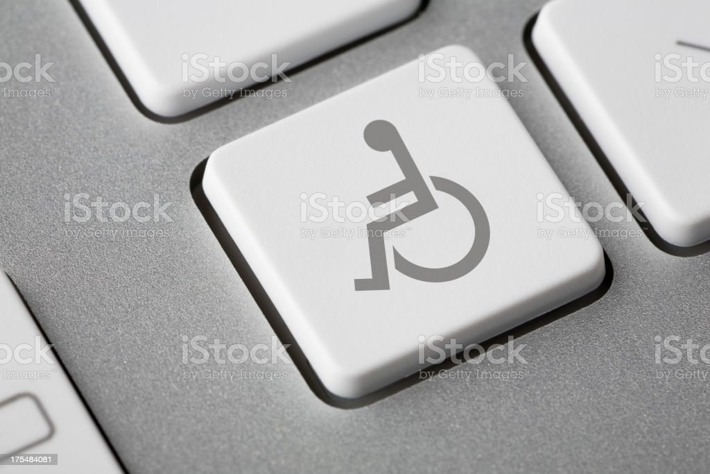 Disabled Symbol On Keyboard stock photo