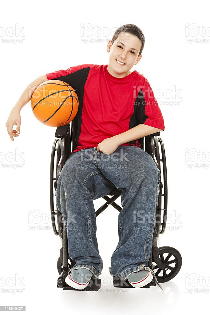 Disabled Teen Athlete stock photo