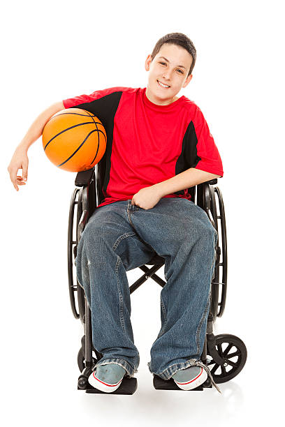 disabled teen athlete - wheelchair sports stock photos and pictures