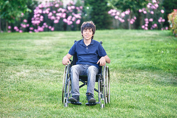 Disabled Teen Portrait stock photo