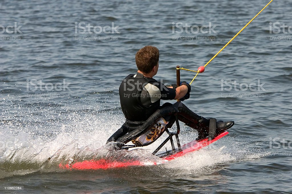 Disabled wakeboarder royalty-free stock photo