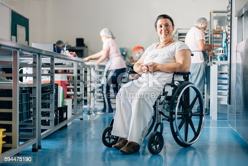 594475880istockphoto Disabled Woman Owner of Bakery Workshop 594475190
