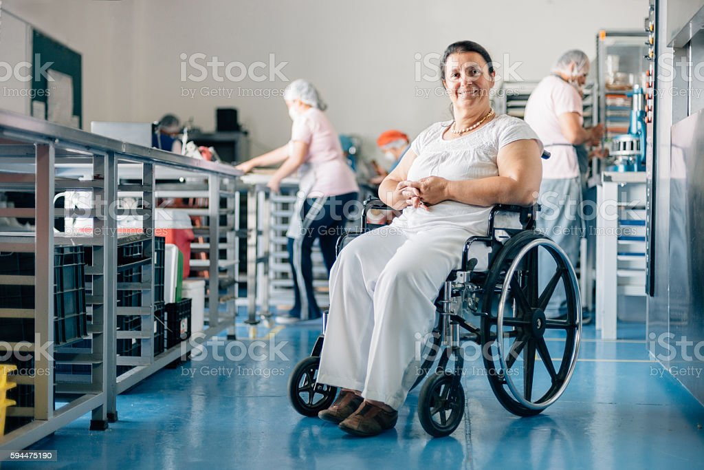 Disabled Woman Owner of Bakery Workshop – Foto