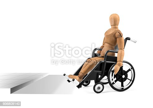 941792734istockphoto disabled wooden mannequin in wheelchair with barrier problems 936809140