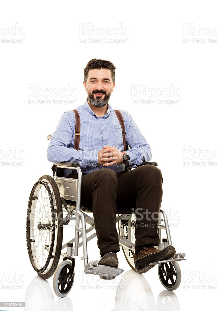 Behinderte jungen Mann – Foto