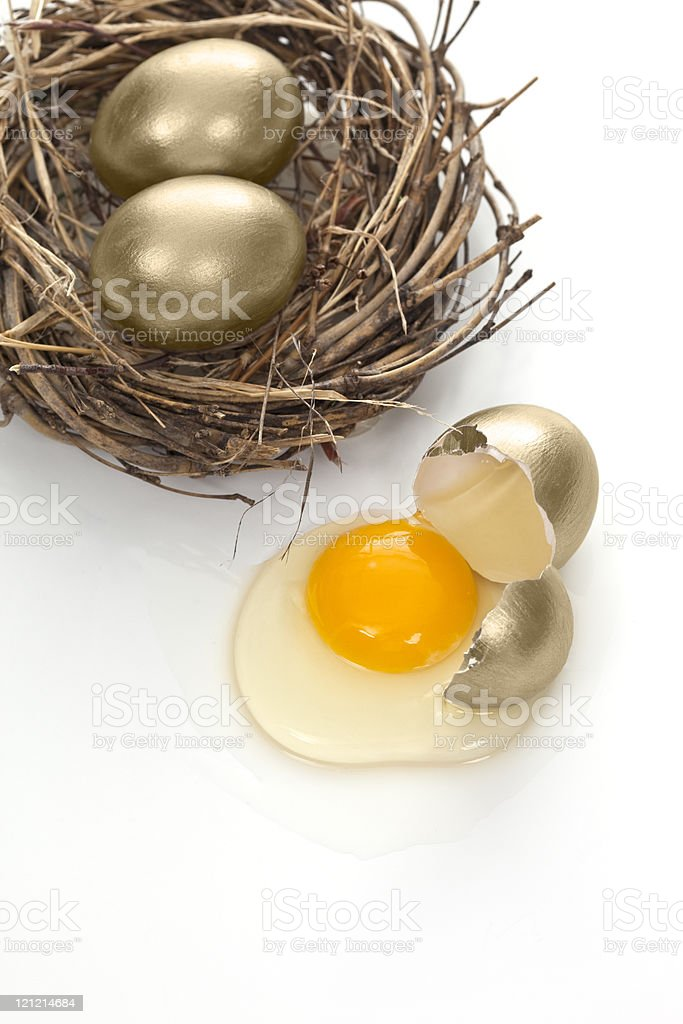 Disappearing Nest Egg royalty-free stock photo