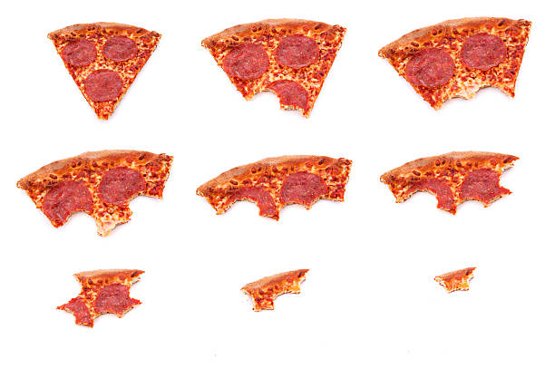 Disappearing slice stock photo