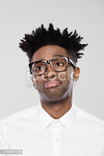 611876426 istock photo Disappointed afro american businessman 1144547108