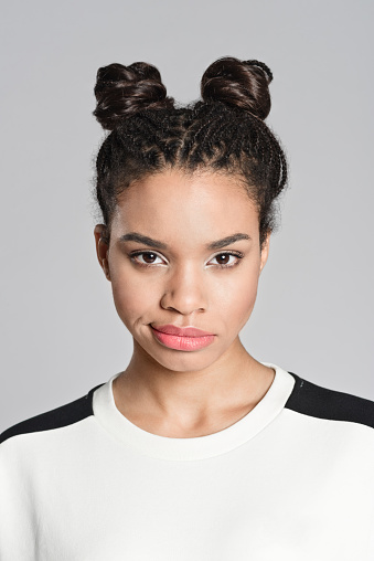 Disappointed Afro American Teenager Woman Stock Photo - Download Image Now