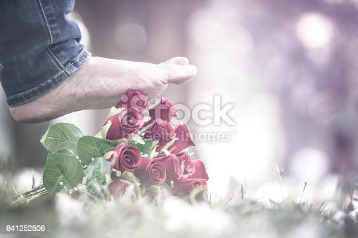 istock Disappointed in love, breakup concept 641252506
