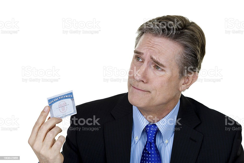 Disappointed with social security royalty-free stock photo