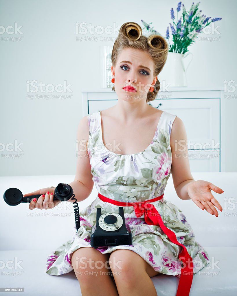 Disappointed woman royalty-free stock photo