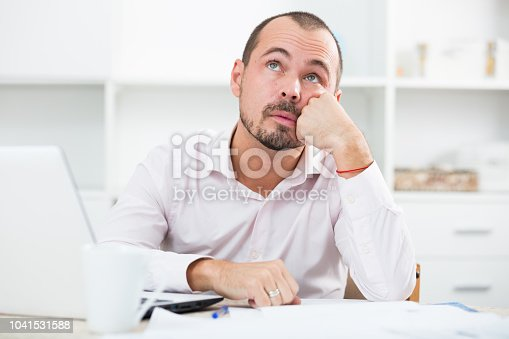 istock Disappointed worker feeling stressed 1041531588