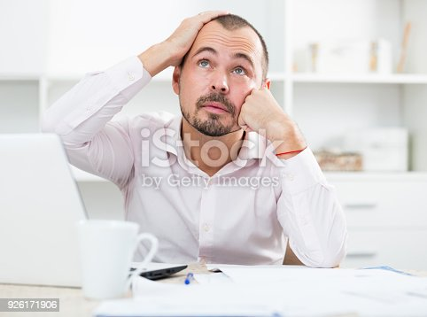 istock Disappointed worker feeling stressed 926171906
