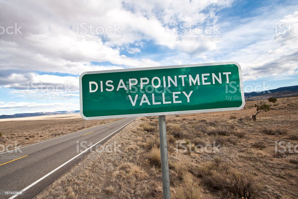 Disappointment royalty-free stock photo
