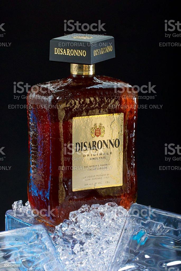 Disaronno Italian Liqueur Bottle stock photo