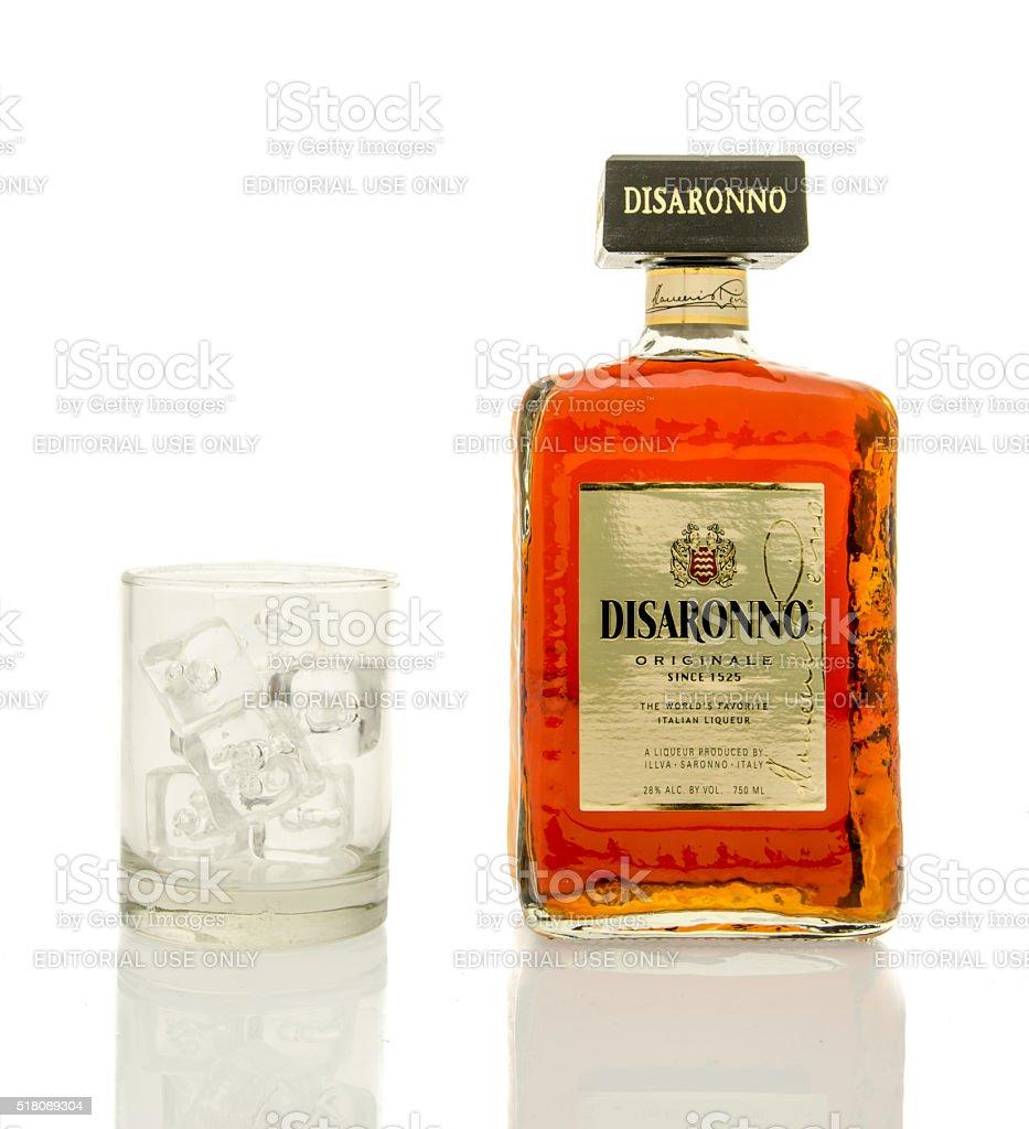 Disaronno liqueur stock photo