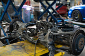 istock disassembled car parts in the auto workshop, machine service  station 1278793848