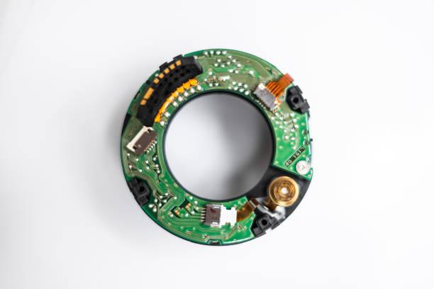 zerlegte Linsennahaufnahme - Kameratechnik Makro - Mechatronik - – Foto