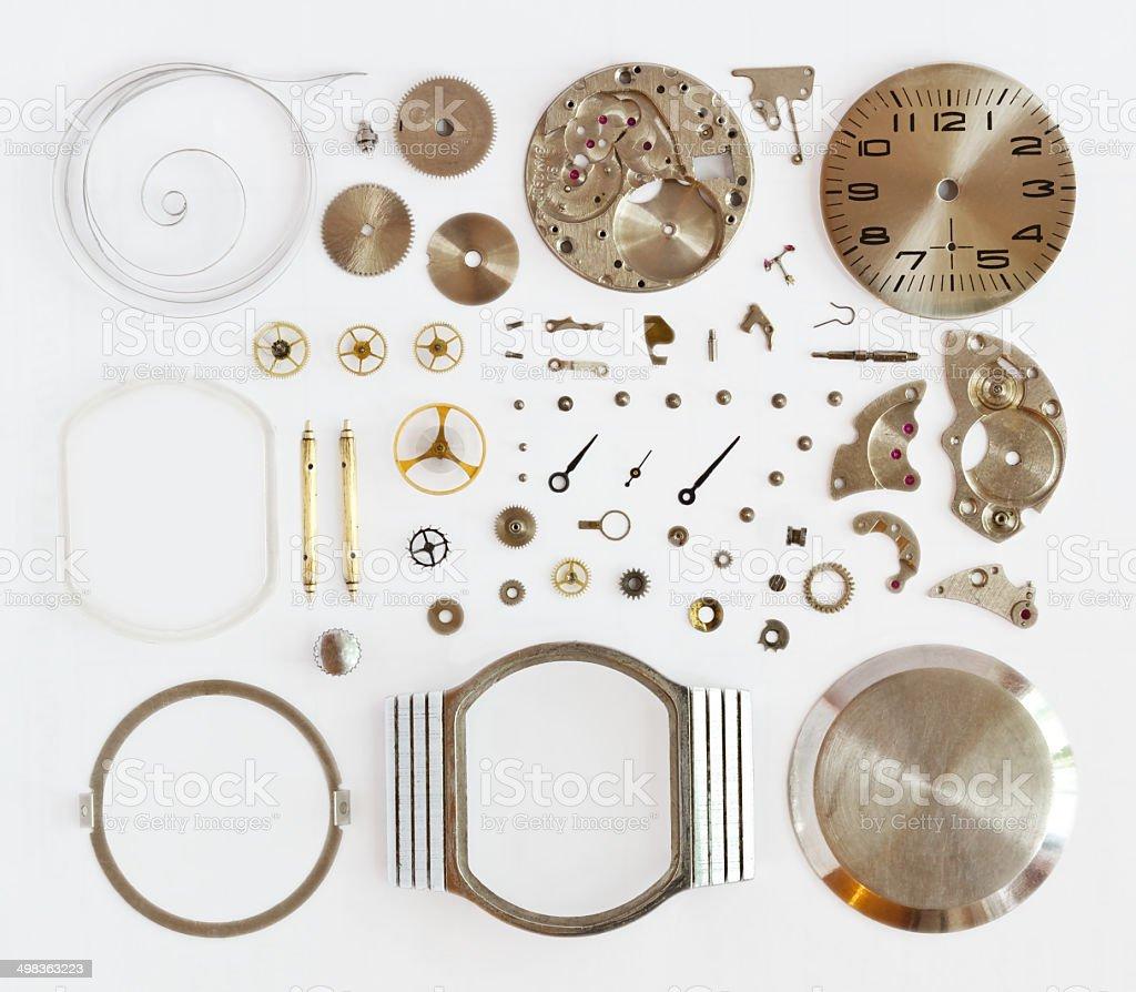disassembled механические часы стоковое фото