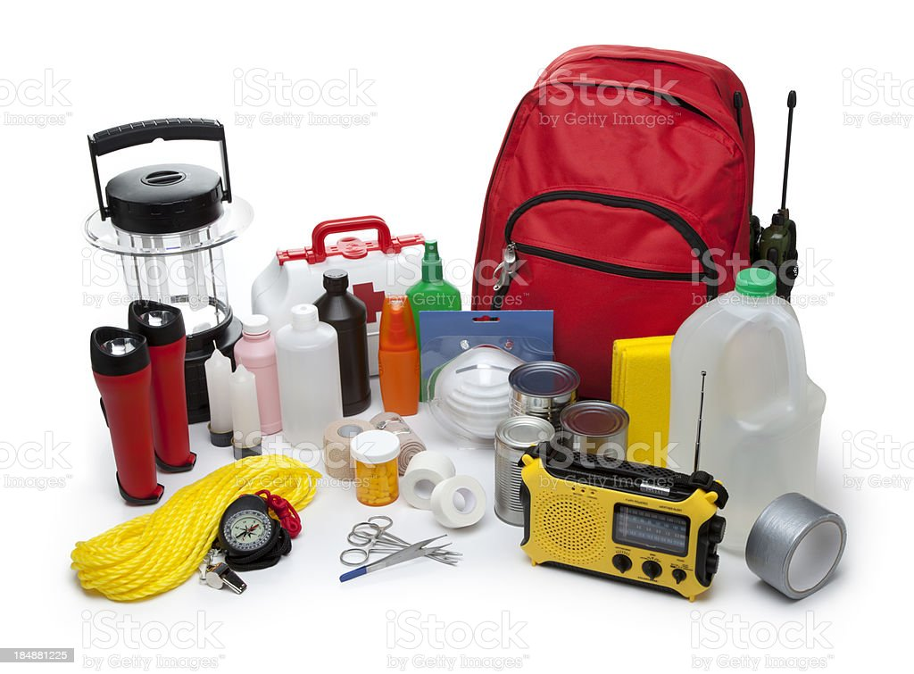 Disaster Emergency Supplies royalty-free stock photo