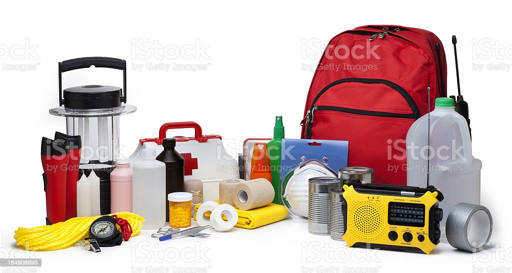 Disaster Emergency fuentes - foto de stock