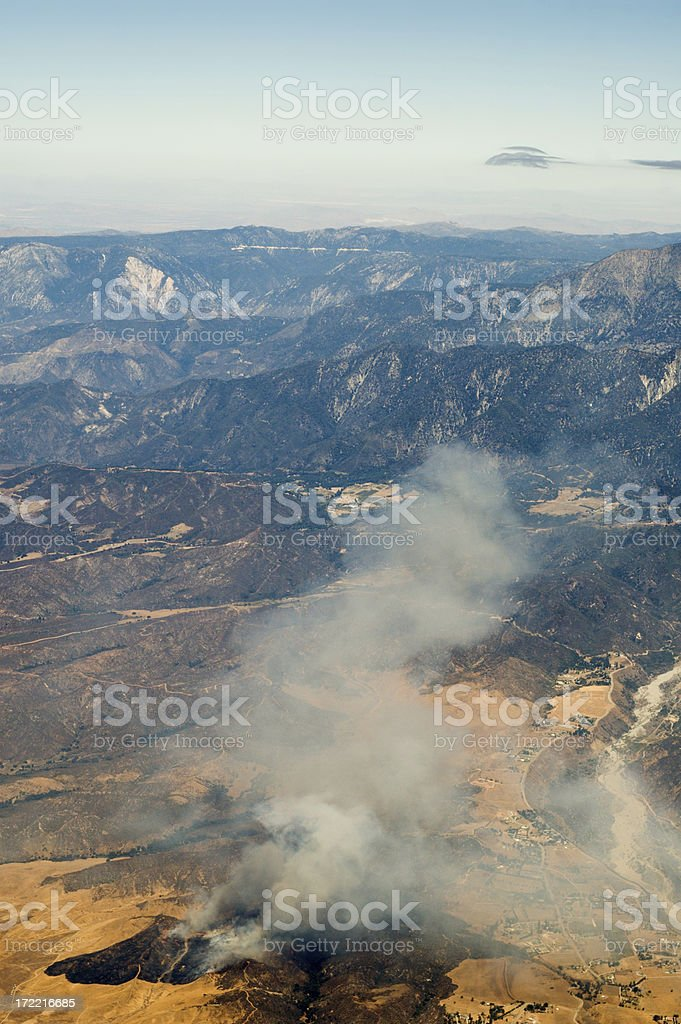 Disaster Fires In the Forest royalty-free stock photo