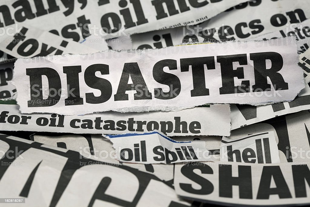 disaster headlines royalty-free stock photo