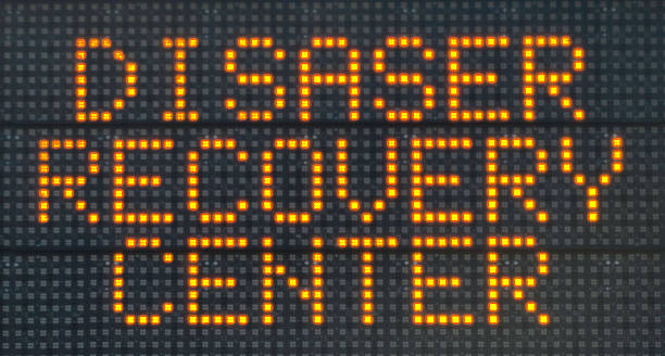 Disaster Recovery Center Sign stock photo
