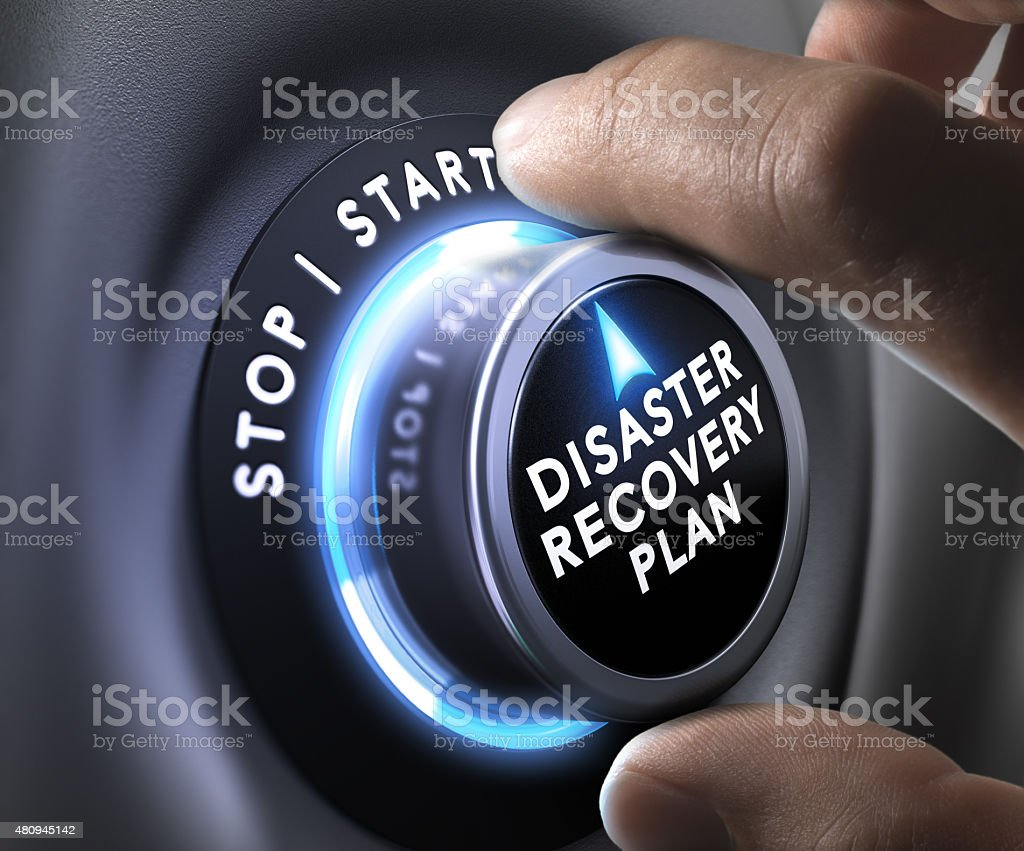 Disaster Recovery Plan - DRP DRP switch button 2015 Stock Photo