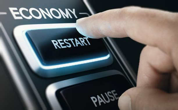 disaster recovery. neustart der volkswirtschaften nach der krise. - anfang stock-fotos und bilder