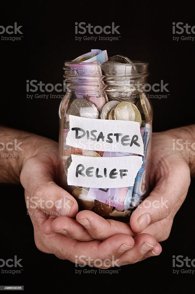Disaster Relief stock photo