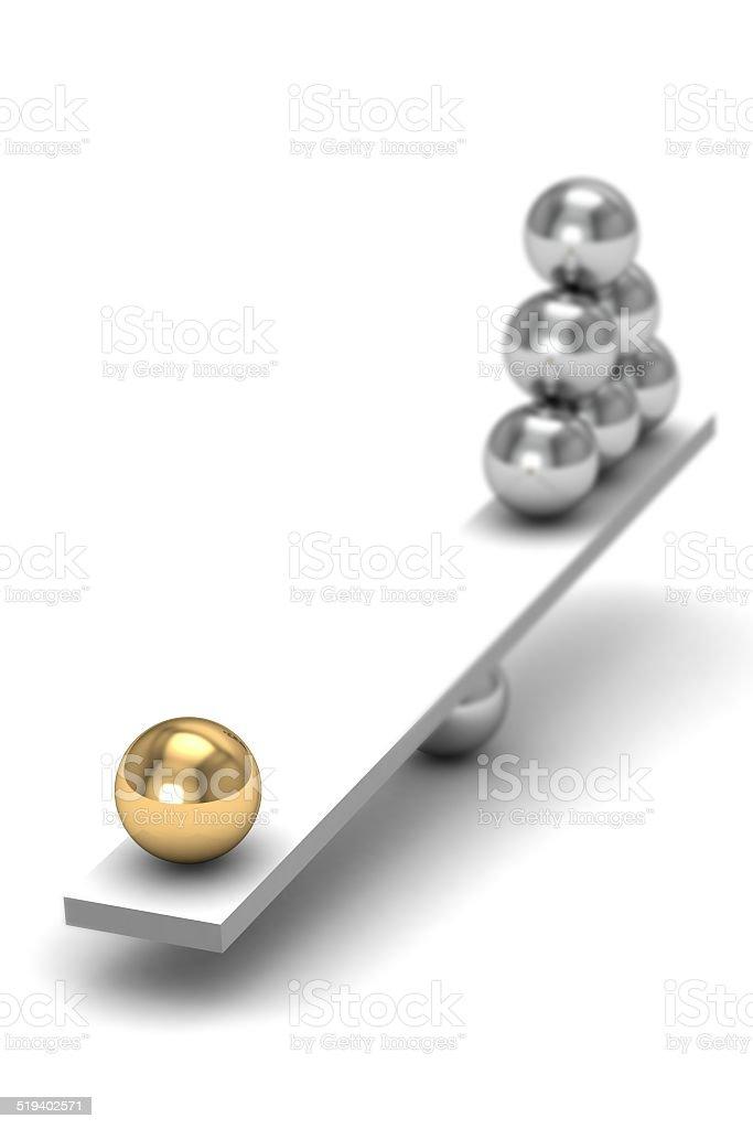 disbalance (high resolution 3D image) stock photo