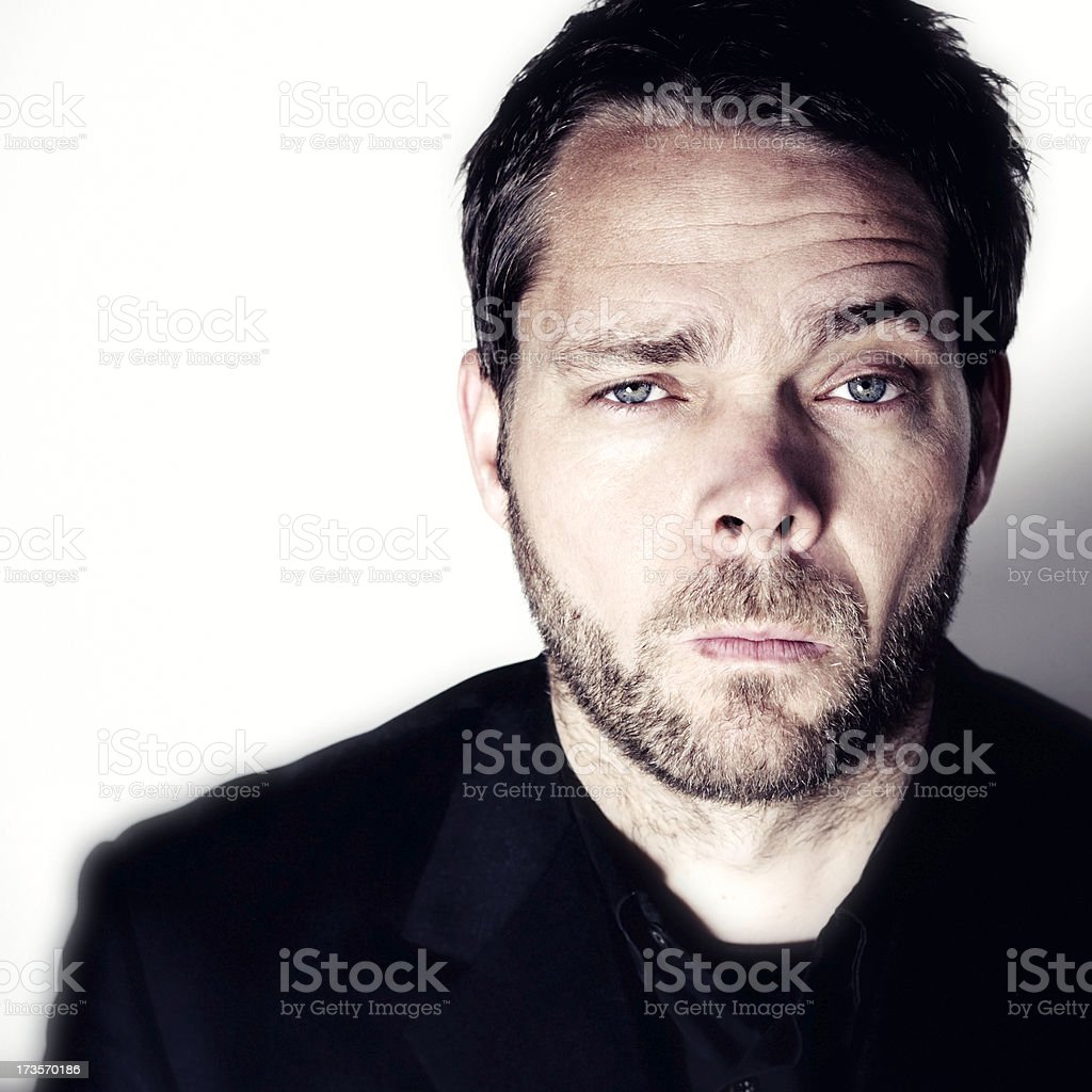 disbelieving business man royalty-free stock photo