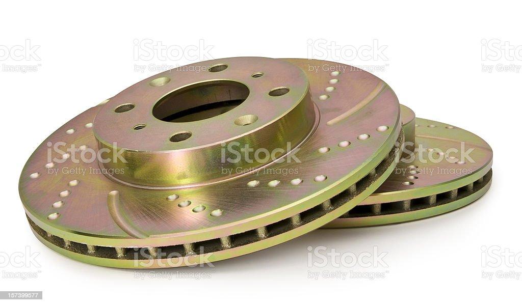 Disc Brakes on White royalty-free stock photo