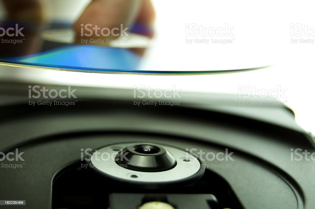 disc from the players view stock photo