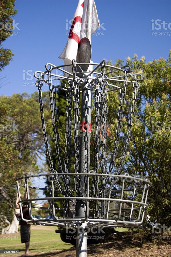 Disc Golf Basket royalty-free stock photo