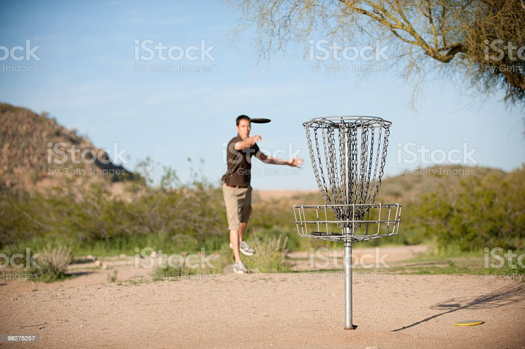 Disc Golf Put royalty-free stock photo