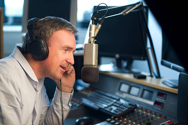 disc jockey - radio station stock photos and pictures