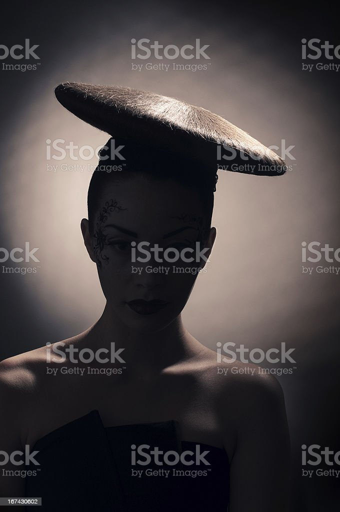 coiffure disc silhouette royalty-free stock photo