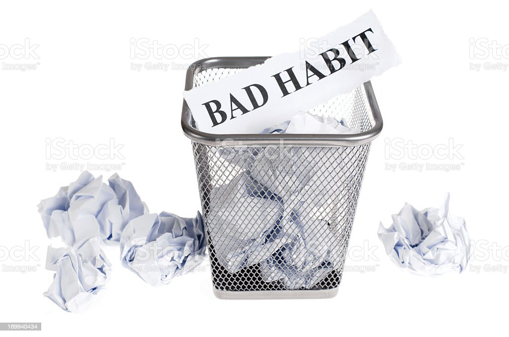 discard bad habit stock photo