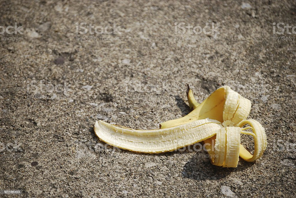 Bananenschale verworfen – Foto