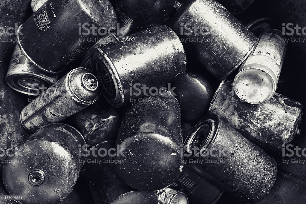Discarded Batteries Background royalty-free stock photo